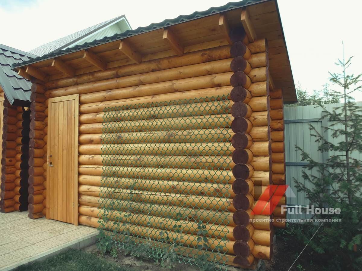 Бытовка, хозблок, садовый домик из бревна 6 кв.м в Новосибирске