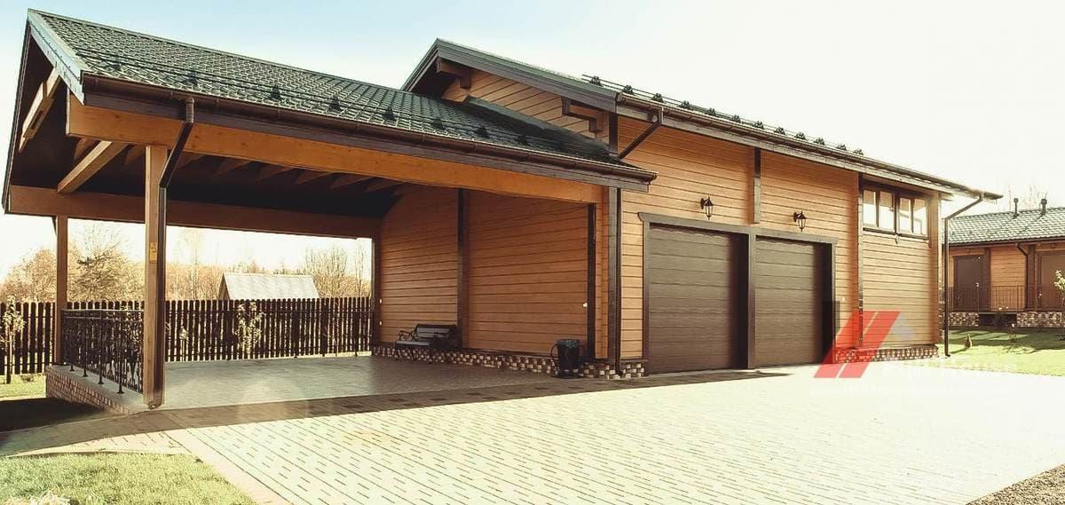 Строительство деревянного гаража. Гараж из клееного бруса