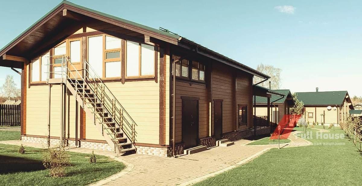 Деревянный гараж 240м2 из клееного бруса