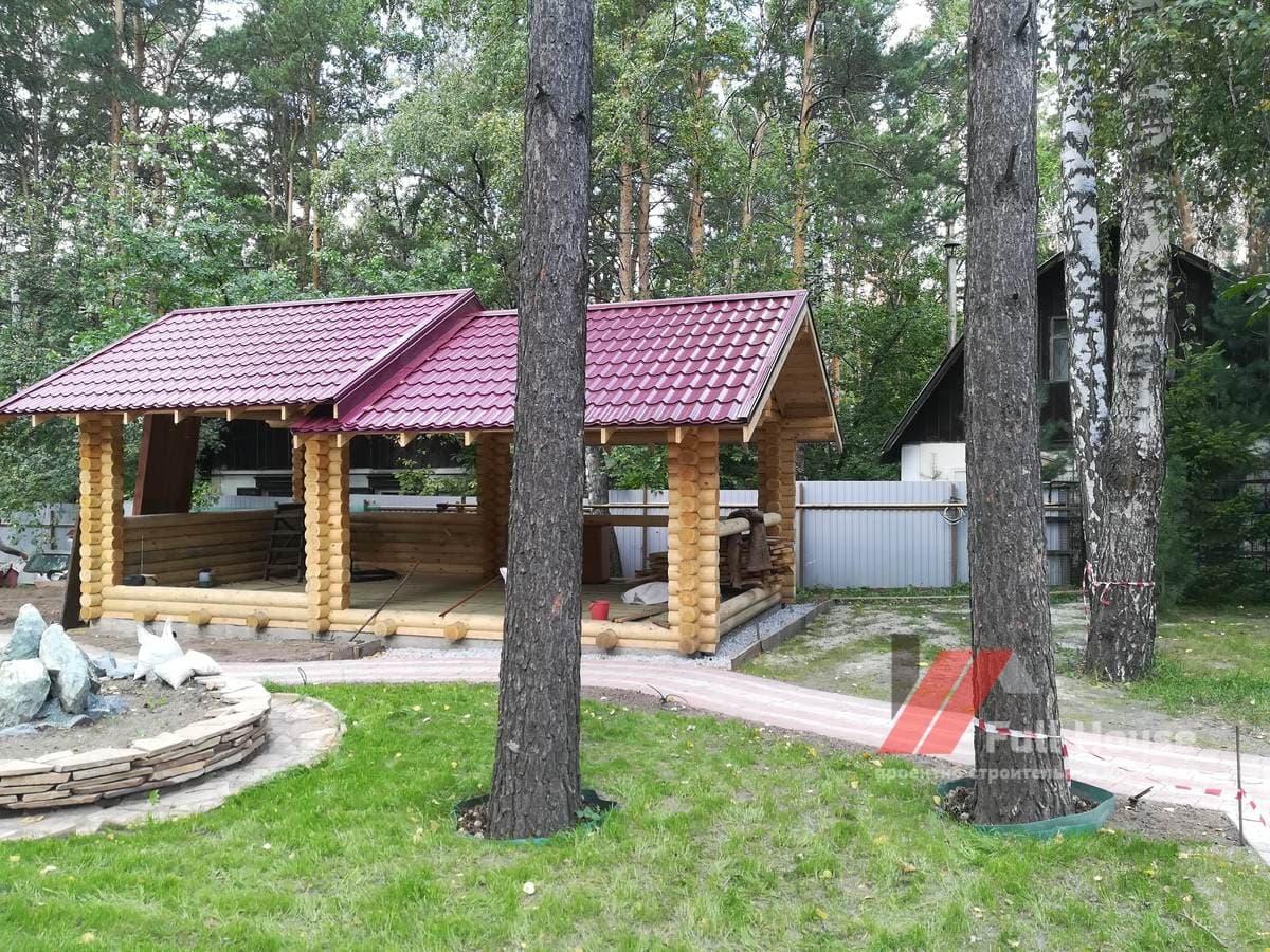 Деревянная беседка купить. 8 на 4 метра. Новосибирск
