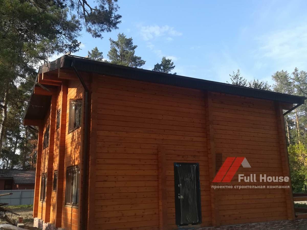 Проект деревянного дома из бруса 140 м2.