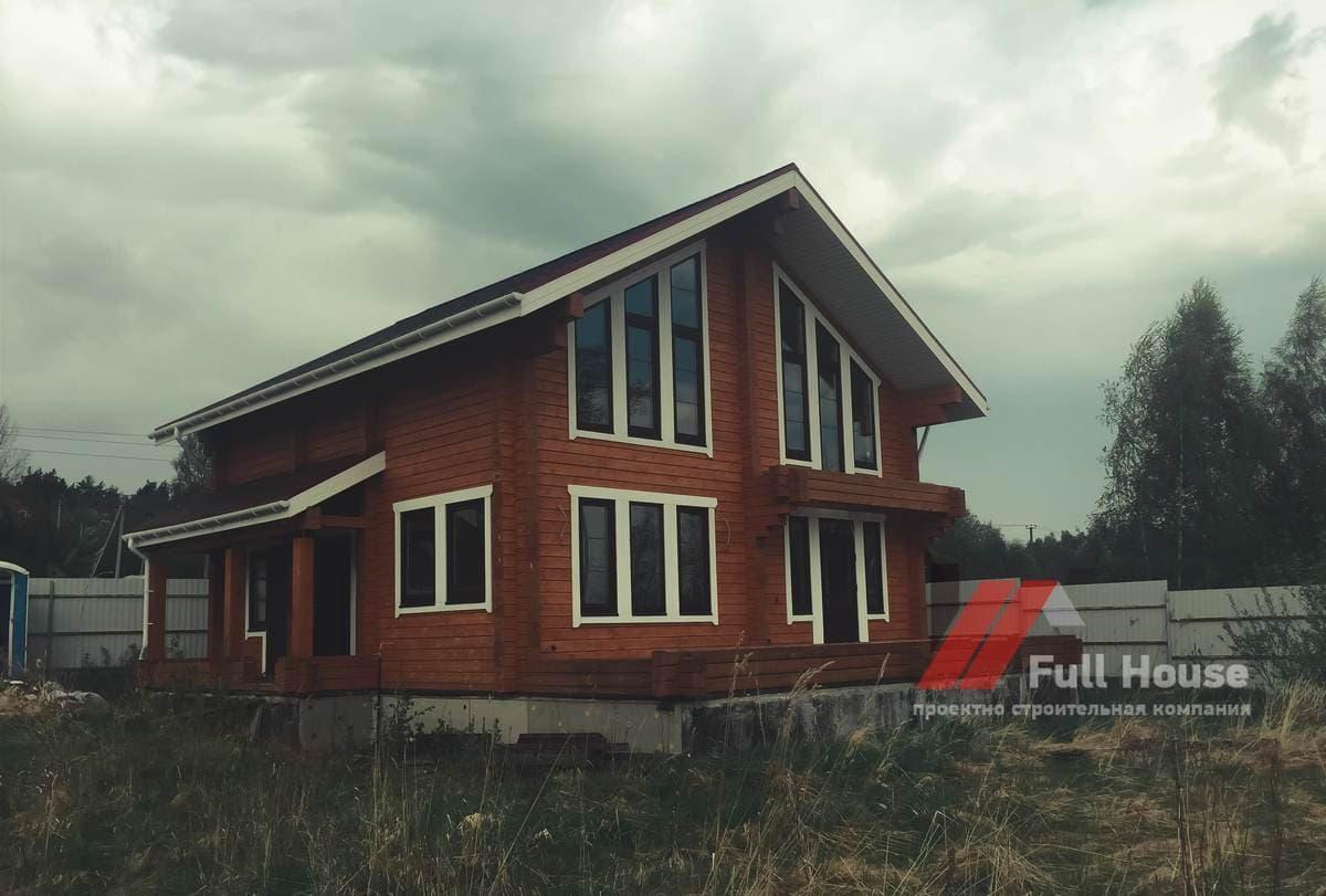Клееный брус. Строительство дома 155 м2 под ключ. Фото и цены.