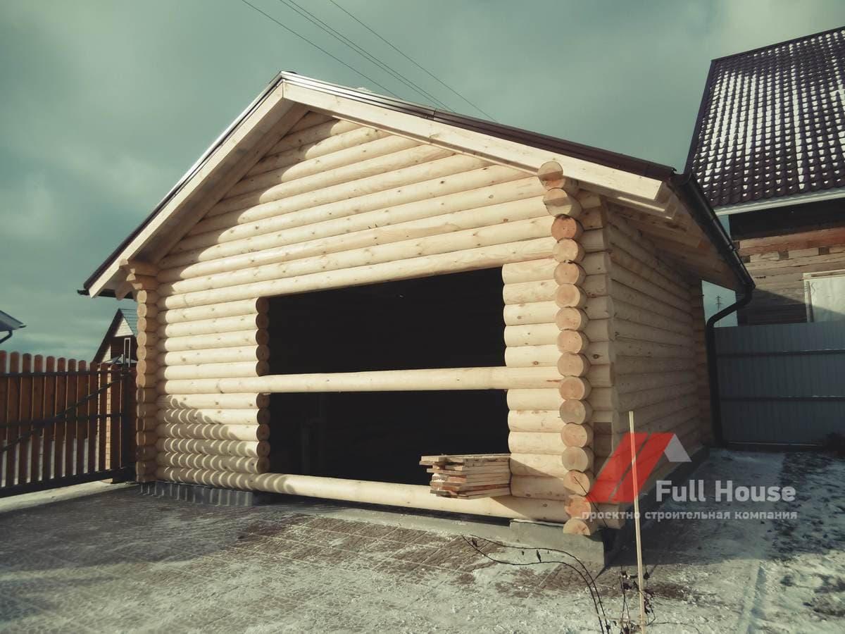 Сруб деревянного гаража 6 на 4. Новосибирск купить.