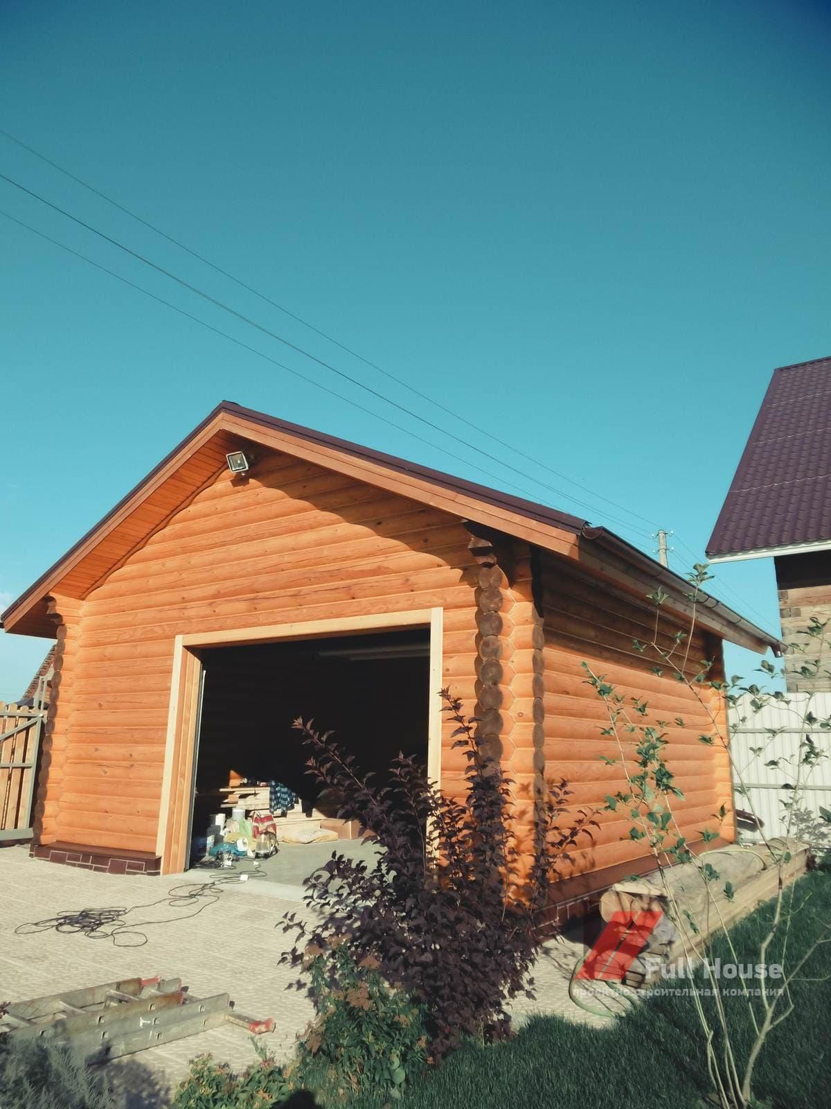 Деревянный гараж. Строительство под ключ в Новосибирске