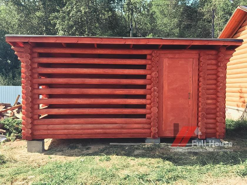 Сарай для дров купить в Новосибирске. Деревянный дровник