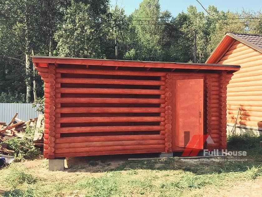 Сарай для дров купить в Новосибирске. Дровник для бани