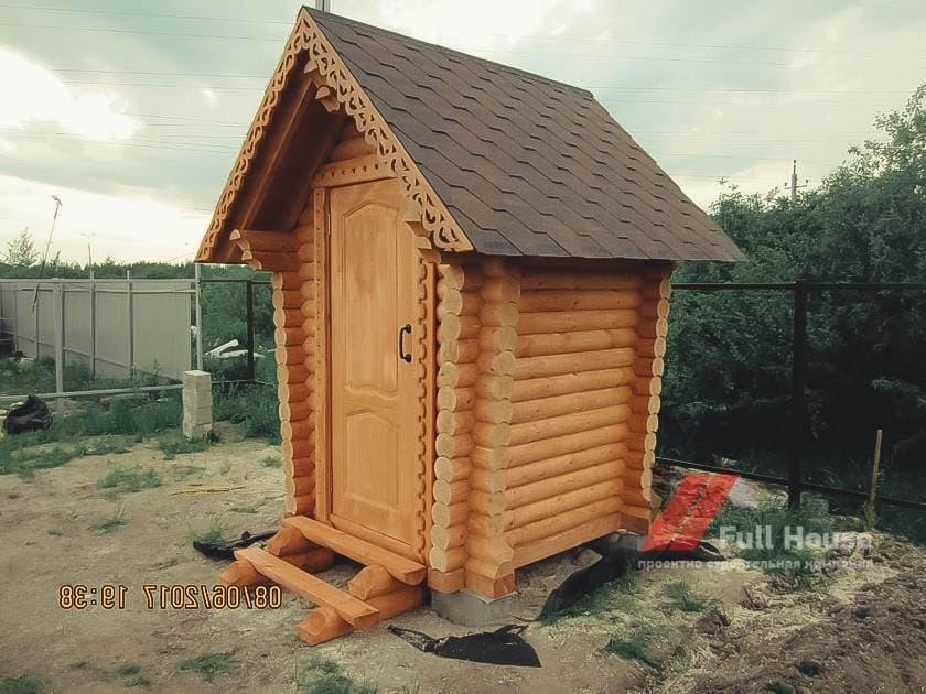 дачный деревянный туалет 1,5 на 1,5 в Новосибирске