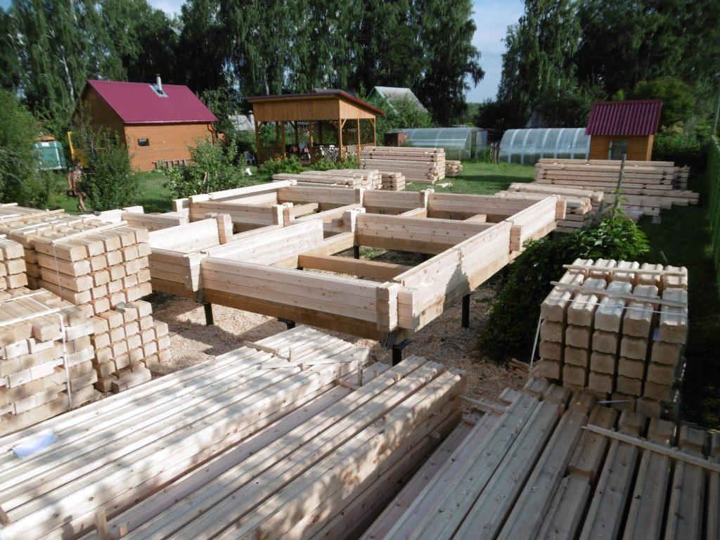 Домокомплект из профилированного бруса. Зимний лес. Новосибирск. +7 (383) 299-90-77