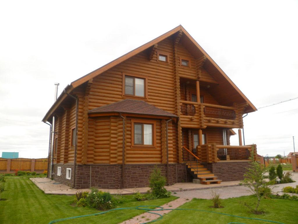 Заказать проект загородного дома из бревна. +7 (383) 299-90-77.
